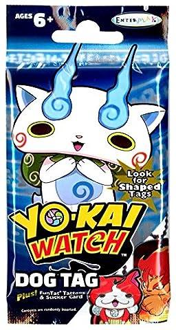 Enterplay - Yo-Kai Watch Dog Tag - PACK (1 Tag with Chain, FunTat Tattoo & Sticker Card) (Dog Tag Chain Packs)