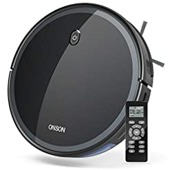 Goovi By Onson Robot Vacuum 1800pa Robotic Vacuum Cleaner Slim Strong Suction Quiet Multiple Cleaning Modes Self Charging Vacuum For Pet Hair Hard Floor Medium Pile Carpet