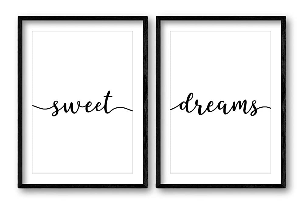Inspirational Bedroom Home Decor Sweet Dreams Quote Wall Art Print Poster x2