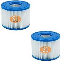 RHSH - Cartuchos de filtros para bañera de hidromasaje tipo S1 compatibles con para Intex PureSpa, filtro de repuesto…