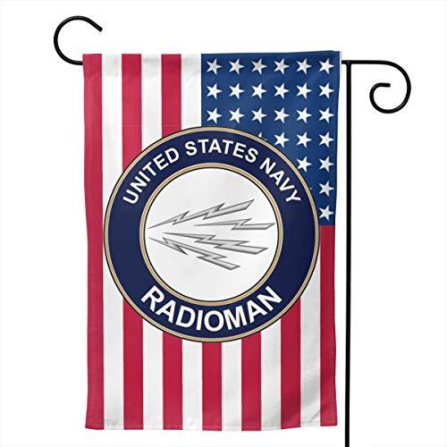 Q7yyg USA Flag US Navy Radioman Decorative Garden Flag Home House Flag