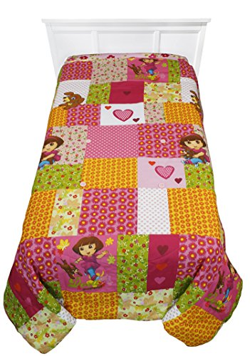 Patchwork Full-Twin Bed Bedding Comforter (Dora The Explorer Quilt)