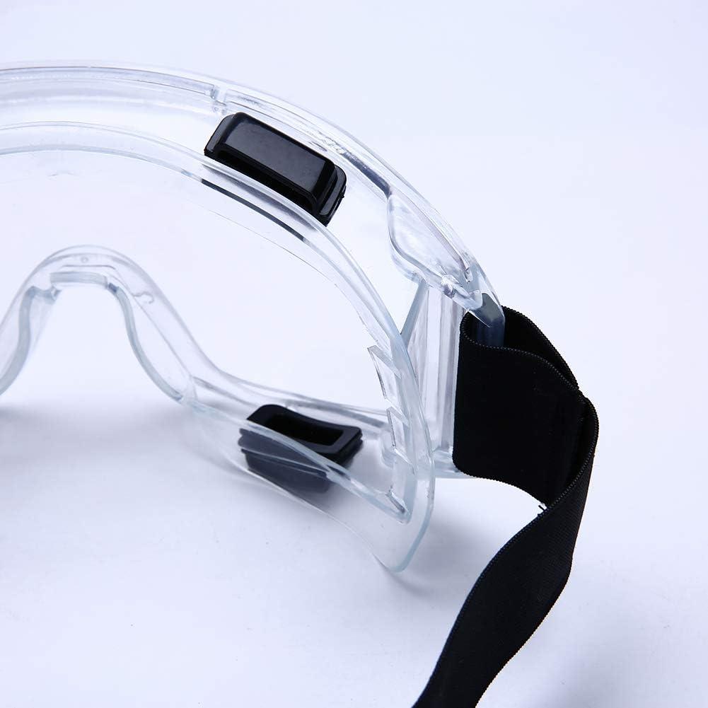 Gafas de seguridad de laboratorio qu/ímico a prueba de salpicaduras CE EN166,ANSI Z87.1 a prueba de viento antiniebla Gafas Protectoras para protecci/ón UV