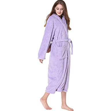 ff1145fe07f8 Men s Bathrobe Lovers Nightgowns with Caps Lengthened and Thickened  Bathrobe Long Nightgowns for Men and