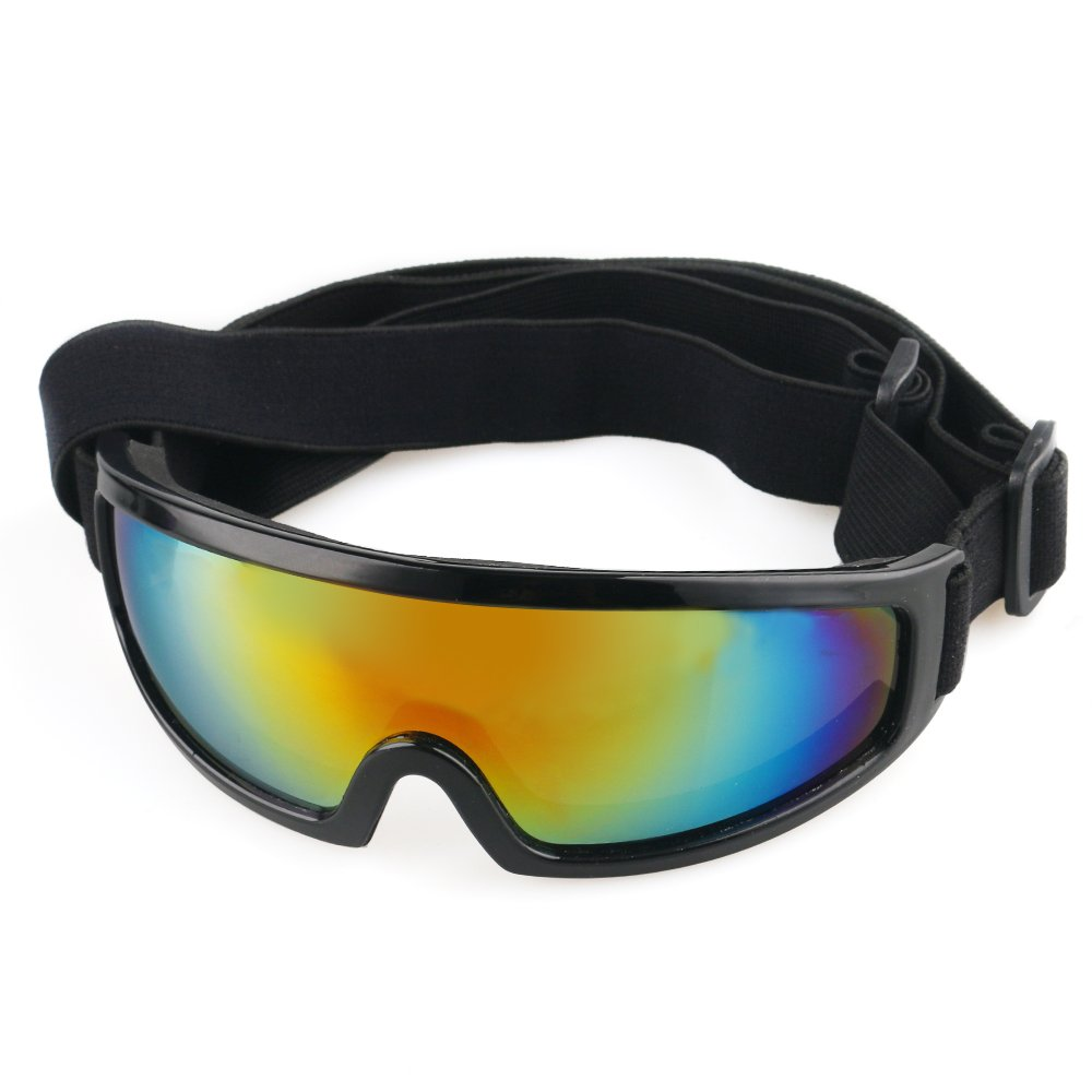URBEST Dog Goggles Dog Sunglasses Lightweight UV Protection Dog Ski Goggles Pet Sunglasses with Adjustable Strap for 44-110Lbs Medium Large Dogs (Black)