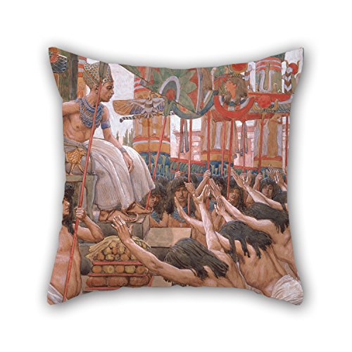 Throw Pillow Covers Of Oil Painting James Jacques Joseph Tissot - Joseph Dwelleth In Egypt 20 X 20 Inches / 50 By 50 Cm,best Fit For Boys,kids,car,teens Boys,kids Room,deck Chair ()