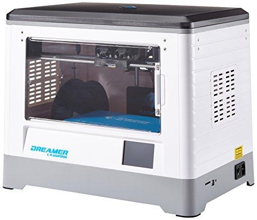 Flashforge® Dreamer Imprimante 3D Dual-extrudeuse imprimante avec porte transparente et ventilateurs arrière