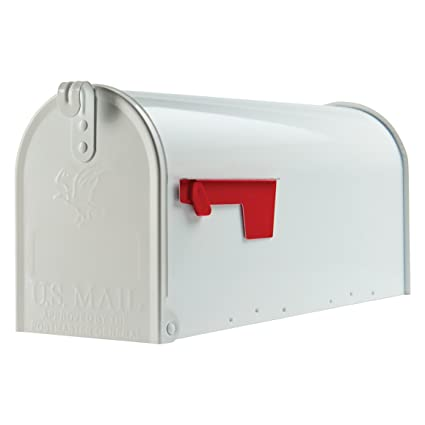 residential mailboxes side view. Gibraltar Mailboxes Elite Medium Capacity Galvanized Steel White, Post-Mount Mailbox, E1100W00 Residential Side View L