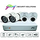 Godrej High Defination 1080P Full CCTV Camera KIT with 2 MP 2Dome camera + 2MP 2bullet camera + 4 Ch DVR + Power supply + 1 TB Hard disk(WD/Seagate) + BNC & DC Connectors + HDMI Cable + Ethernet Cable + 90 meter cable + Adapter