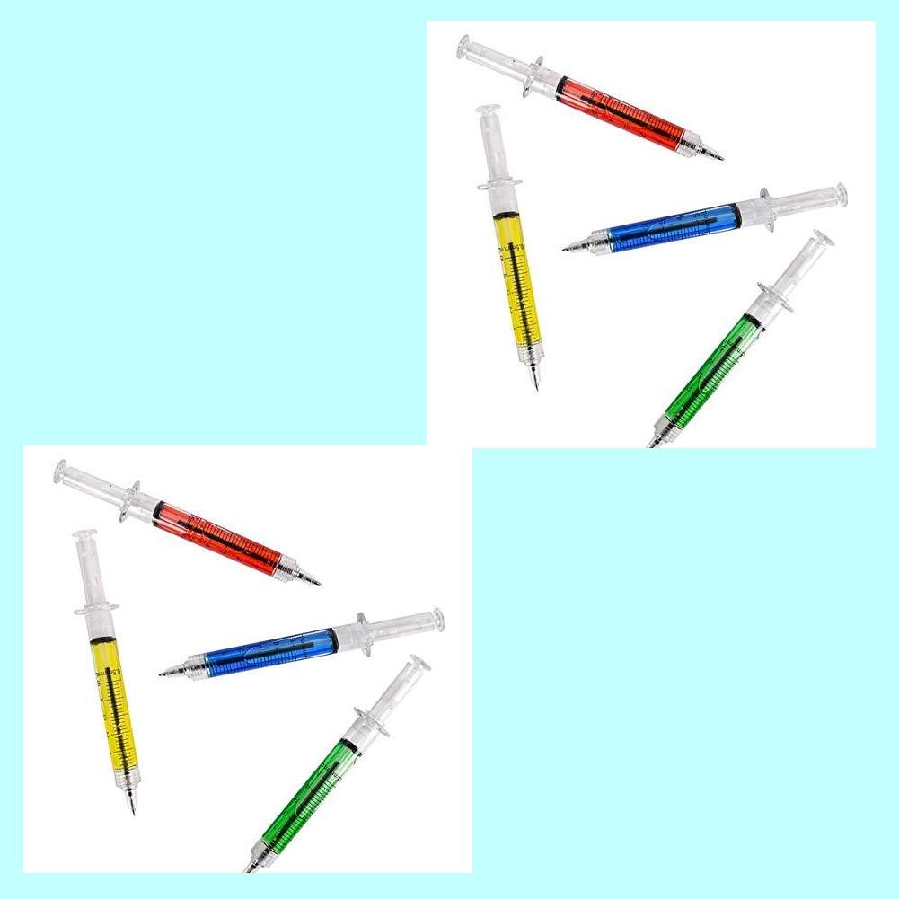 Yisily Jeringa Bol/ígrafo 4 color tinta azul la novedad del regalo de la diversi/ón de la sangre Extracci/ón de la sangre Bol/ígrafo plumas de inyecci/ón para trajes de la enfermera