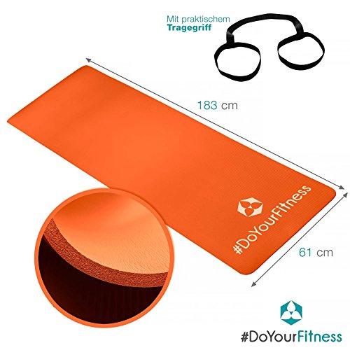 Esterilla para fitness »Yogini« / gruesa y suave, perfecta para pilates, gimnasia y yoga / Colchoneta de yoga / estera de deporte / esterilla de ...