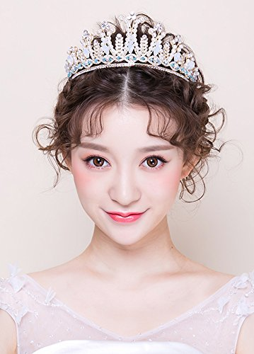 Generic 2018 new bride crown headdress wedding dress women in Europe and America Wang Guan diamond jewelry Baroque Hair Accessories