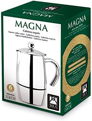 BRA Magna - Cafetera, Capacidad 6 Tazas, Acero Inoxidable 18/10 ...