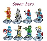 8pcs/lot Crystal Marvel Avengers Super Hero Minifigures Building Blocks figures Toys Bricks Compatible With lego (WITHOUT original boxes)