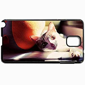 Fashion Unique Design Protective Cellphone Back Cover Case For Samsung GalaxyNote 3 Case Cat Lie Paw Face Sunlight Black