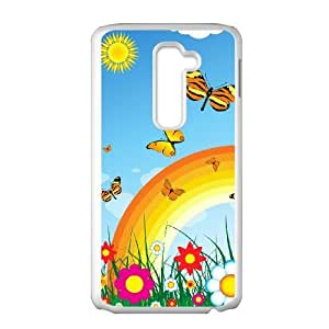LG G2 Phone Case The butterfly flowers beautiful Protective Cell Phone Cases Cover TTR135191
