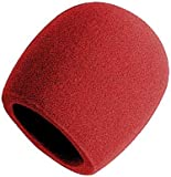 On-Stage Foam Ball-Type Microphone Windscreen, Red