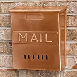 Naiture Copper Vertical''MAIL''Wall-Mount Mailbox in Antique Copper Finish