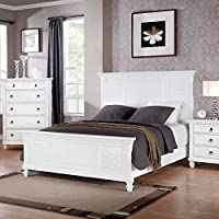 1PerfectChoice MERIVALE WHITE QUEEN PANEL BED