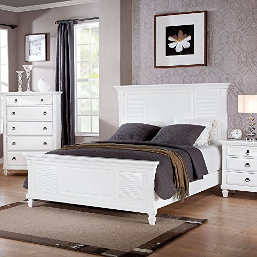 merivale white queen panel bed