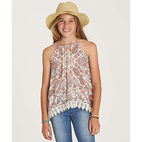 Billabong Big Girls' Dreamin Top Tank, White Cap, S Billabong Girls Tank Top