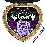 EINID-Handmade-Preserved-Rose-Flower-Forever-Eternal-Rose-in-Heart-Musical-Box-Gift-for-HerWomen-and-Girls-on-Mothers-DayValentines-DayBirthday-or-AnniversaryMusic-Purple-Rose