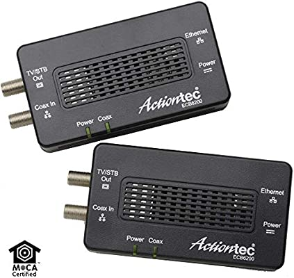 Actiontec Bonded MoCA 2 0 Ethernet to Coax Adapter, 2 Pack