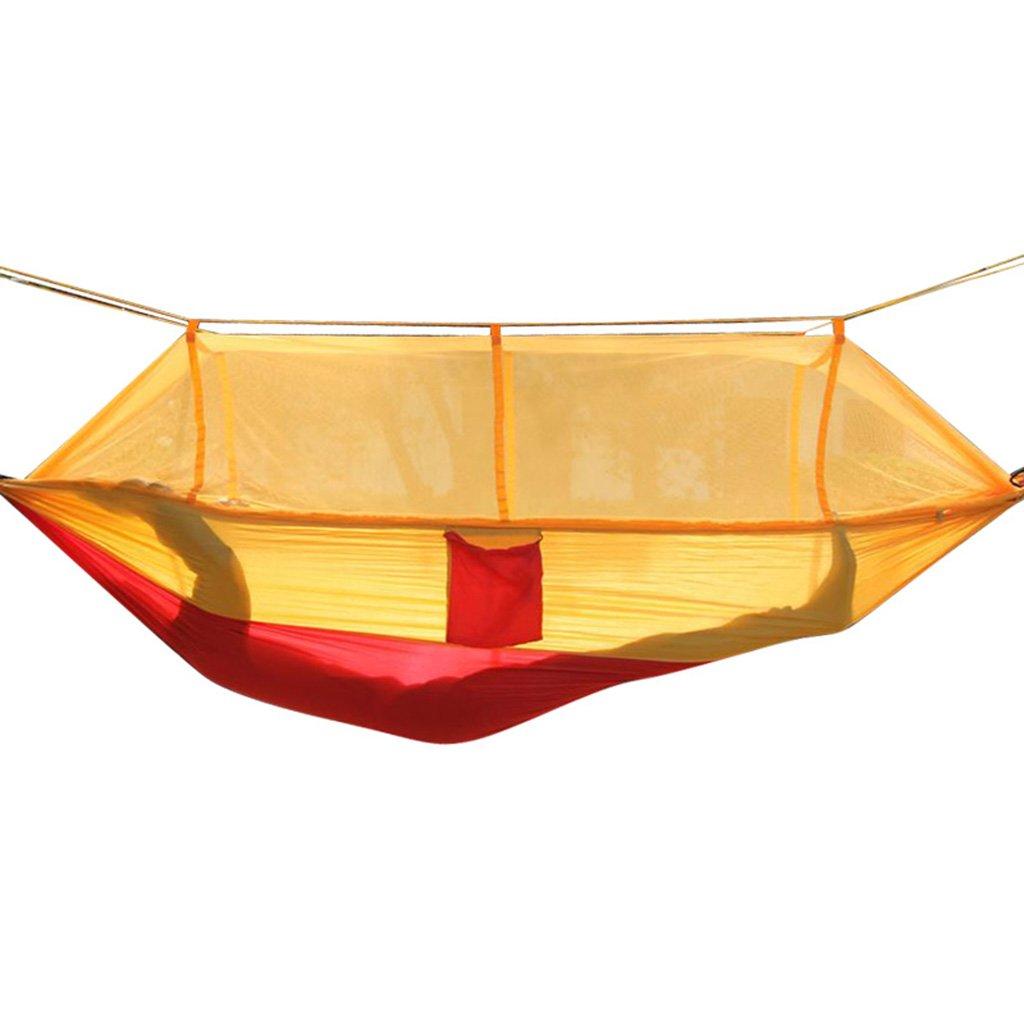 Zheng Hui Shop Hängematten Hängematte mit Moskitonetzschaukel Outdoor-Campingstuhl (Farbe : Gelb)