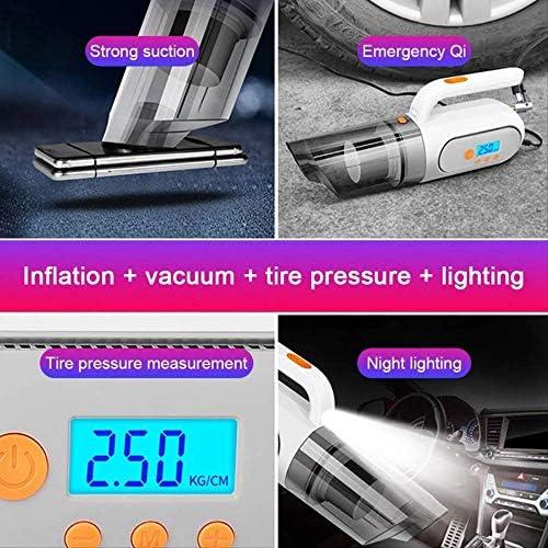 Aspirateur portablePortable Car Vacuum Cleaner, 4 In 1 Handheld Vacuum Cleaner Air Pump Tire Pressure Measure And Led Light