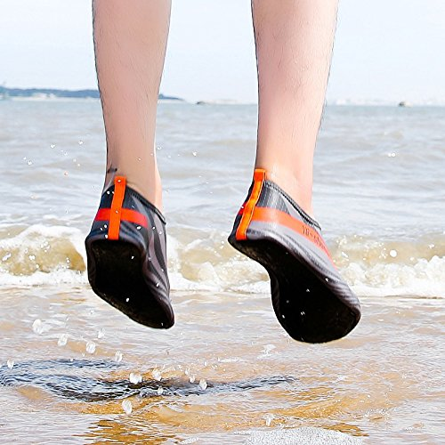 Pool Lightweight Quick Shoes Socks Men Grey Dry for Humasol Aqua Womens Multifunctional amp; Orange Y6 Swim Beach Water EpnOw4tq