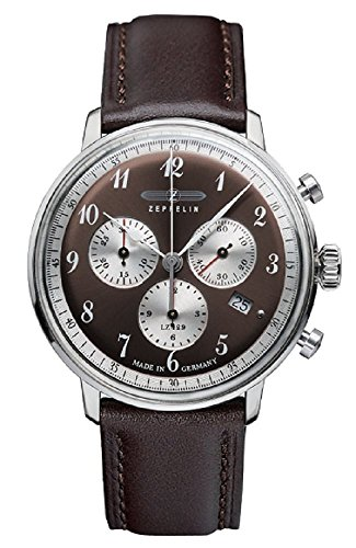 Zeppelin Series LZ129 Hindenburg Men's Chronograph Analog Watch Brown 7086-5