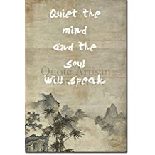 "Zen Motivation 08 ""Quiet the mind..."" Poster Photo Print - Buddhism Religion Spirituality Japan Japanese Meditation - Motivational Quote Inspiration Art 12x8 Inches"