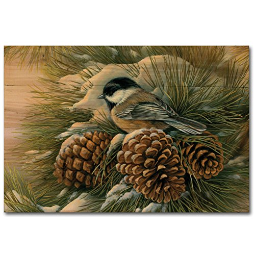 WGI-GALLERY WA-DDC-128 December Dawn Chickadee Wall Art