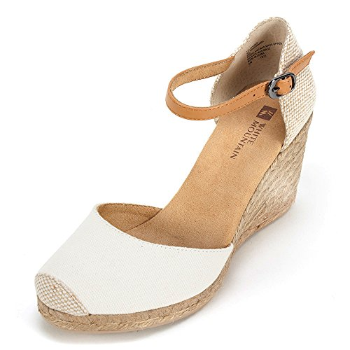 WHITE MOUNTAIN Women's Mamba Espadrille Wedge Sandal Natural 9 M US