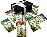 Walden Farms Calorie Free Dressings 4-Flavor Variety: Two 1 oz Packets Each of Honey Dijon, Ranch, Italian, and Creamy Bacon in a BlackTie Box (8 Items Total)