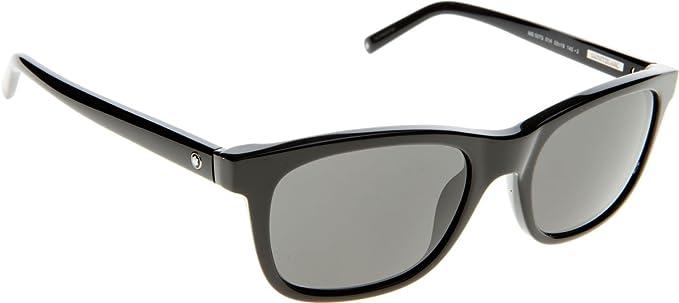 0f388a5d7f7 Image Unavailable. Image not available for. Color  Mont Blanc 507S 01A  Black 507S Wayfarer Sunglasses ...
