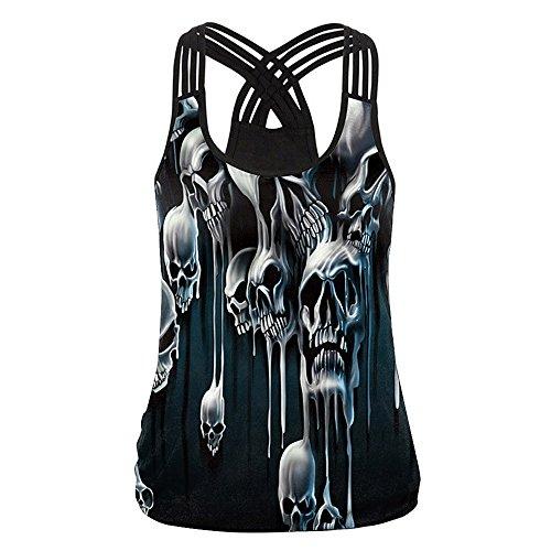 Con Y Confort Mangas Camisetas Blusa Cuello Camis Black 1 Chaleco Estampada V Transpirable Estampado Sin De Vendaje Mujer Esmalte Bazhahei Top En Ropa qn8zwIYFn