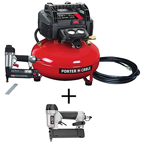Porter-Cable 6 Gal. Portable Electric Air Compressor and 18-