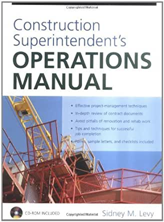 construction superintendent s operations manual  stm37   sidney m levy  ebook amazon com commercial building operations manual building operations manual small condominium