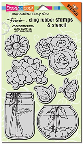 STAMPENDOUS Cling Build a Bouquet Stamp -