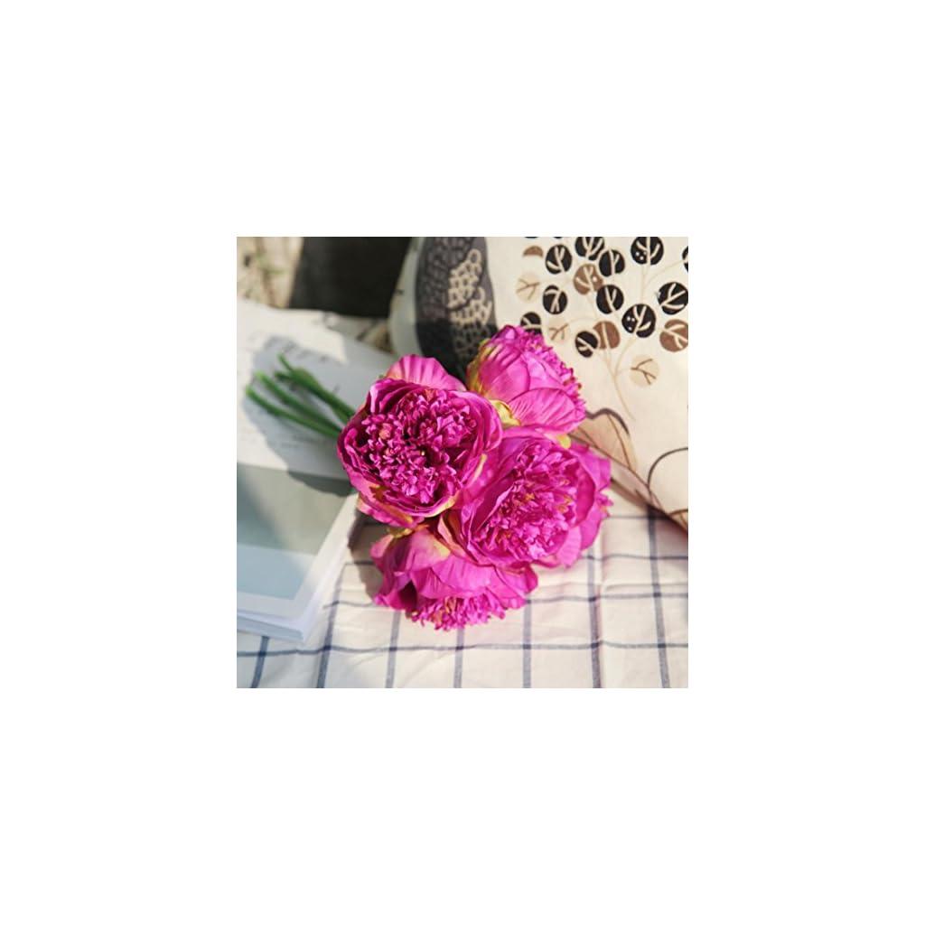 Artificial-PeonyClearance-1Bouquet-5-Heads-Artificial-Peony-Silk-Flower-Leaf-Home-Bridal-Wedding-Party-Festival-Bar-Decor