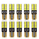 Goushine T10 LED Bulbs Interior Car Lights 194 168 T10 W5W Super Bright 24-smd 4014 Chipset Bulb for License Plate Dome Map Door Courtesy Parking Trunk Lights Pack of 10