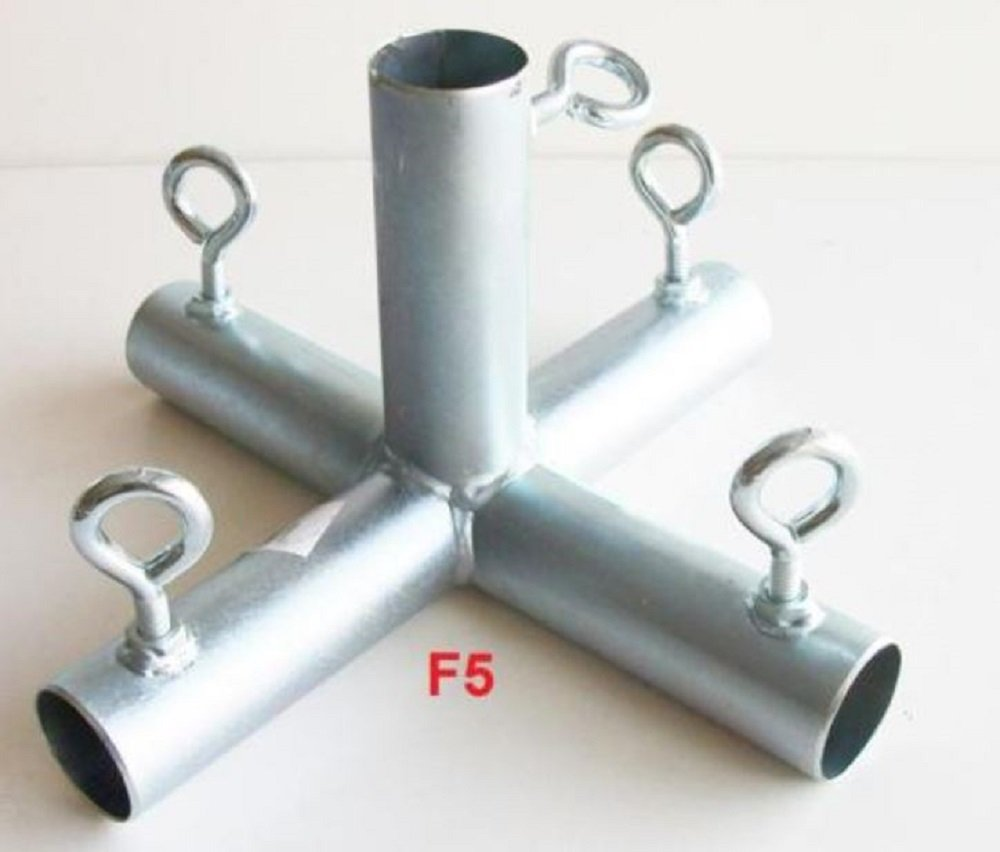 5 way FLAT TOP CENTER 1'' CANOPY FITTING (F5B) ~ 1'' pipe