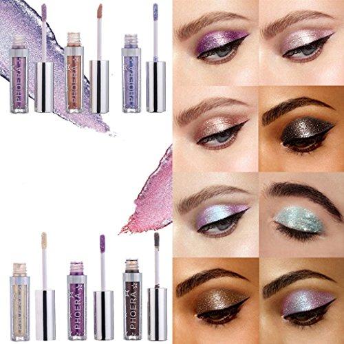 Kikole 12 Colors Shimmer Liquid Eyeshadow Magnificent Metals Glitter & Glow Eye Make Up Eye Shadow