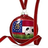 Christmas Decoration Soccer Team Flag Georgia region America (USA) Ornament
