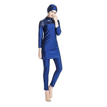 Pingtr - Muslimischer dreiteiliger Badeanzug - Sonnenschutz - Badeanzug + Hose + Hijab