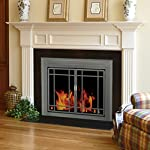 Pleasant Hearth ED-5410 Edinburg Glass Firescreen, Gunmetal from GHP Group -- Drop Ship Only