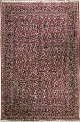 SALE All-Over 11x16 UNUSUAL Persian Area Rug Semi-Antique Burgundy Kashan Rug