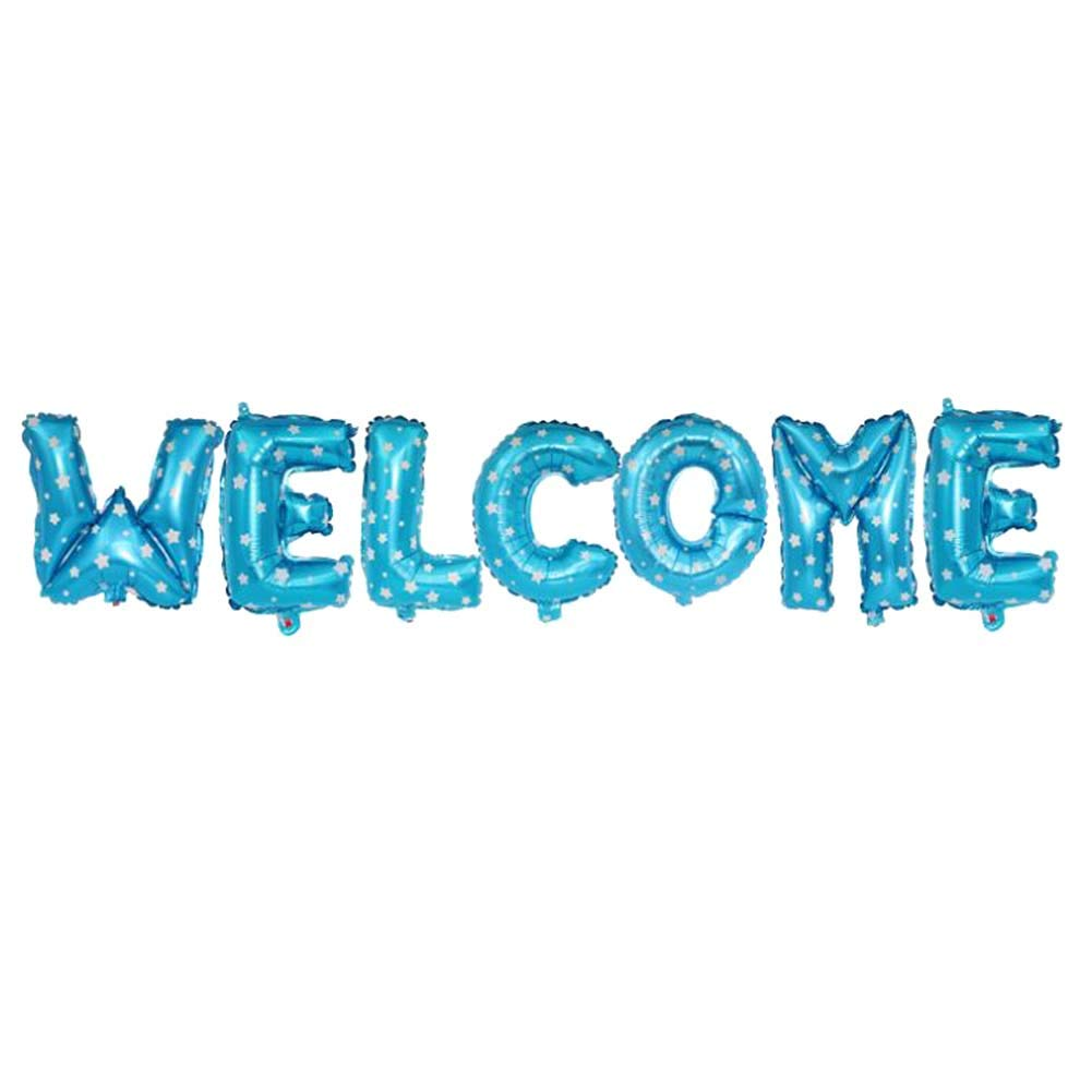 BRUIO Welcome Letter Balloon Set Foil Balloons Party Decoration Balloon Birthday Party 4Sets