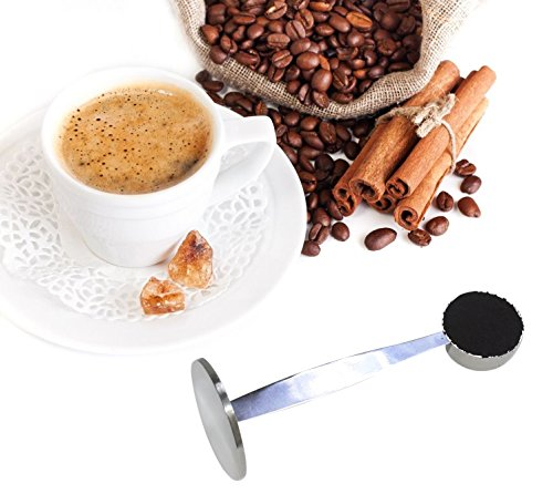OKCafe Espresso Stand Coffee Measure Tamper Spoon Stainless Steel Coffee & Tea Tools Measuring Tamping Scoop 1 Pieces 15ml Sliever by OKCafe (Image #3)
